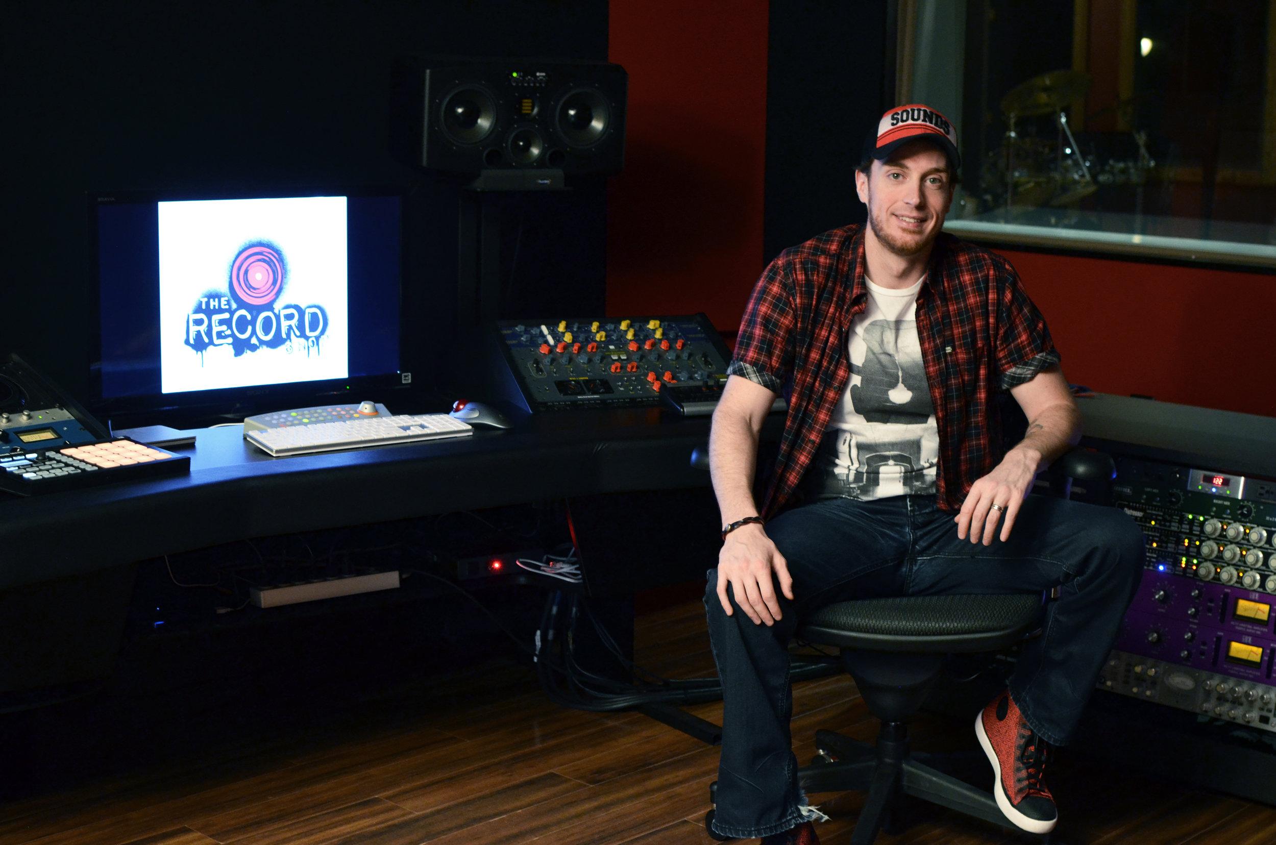 The Record Shop Sean in Control Room