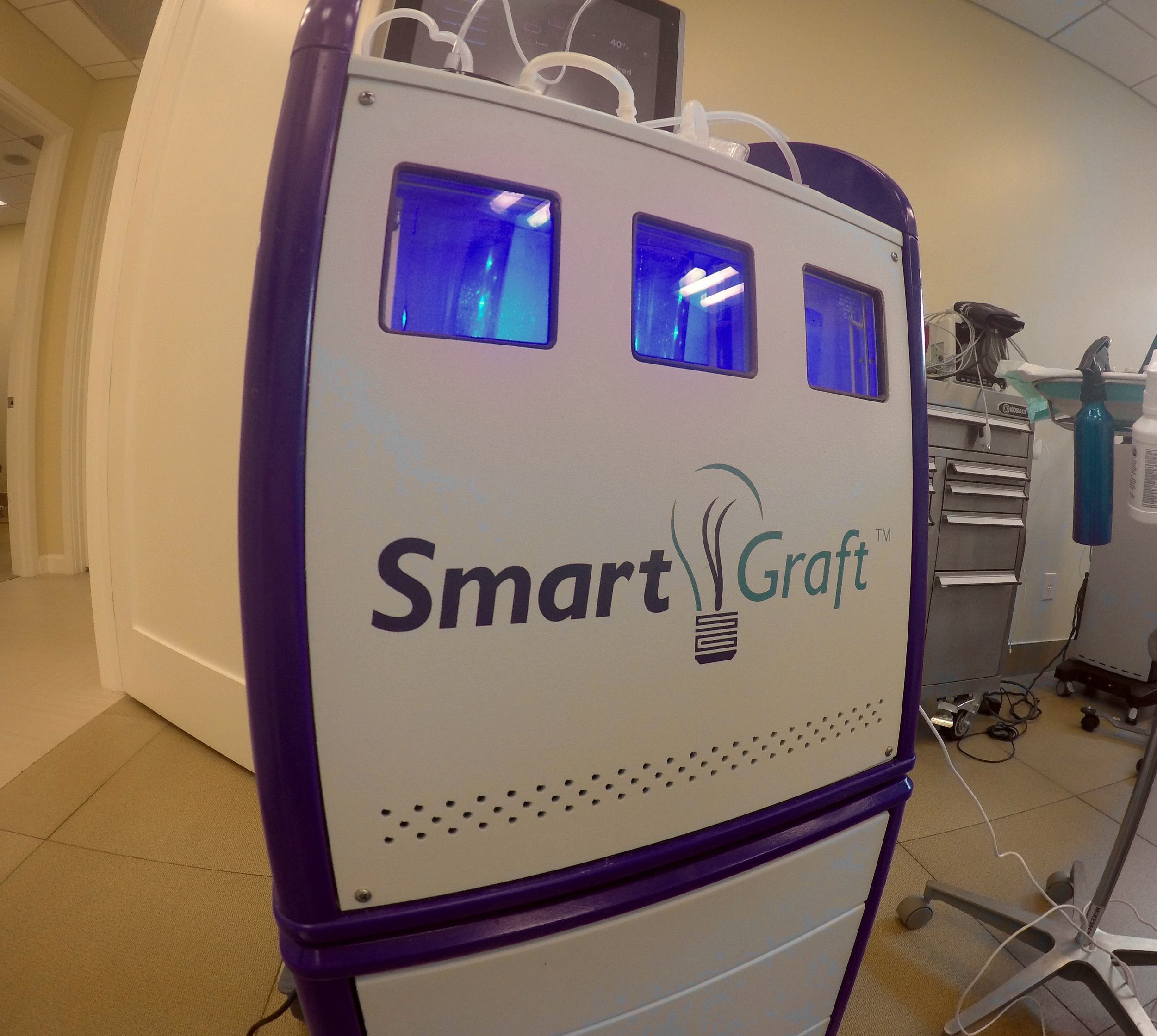 The SmartGraft Machine and it's patented refrigerated cooling chambers