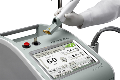 The Cutera Excel V is able to quickly switch laser wavelengths - allowing its operator to more accurately target the tissue