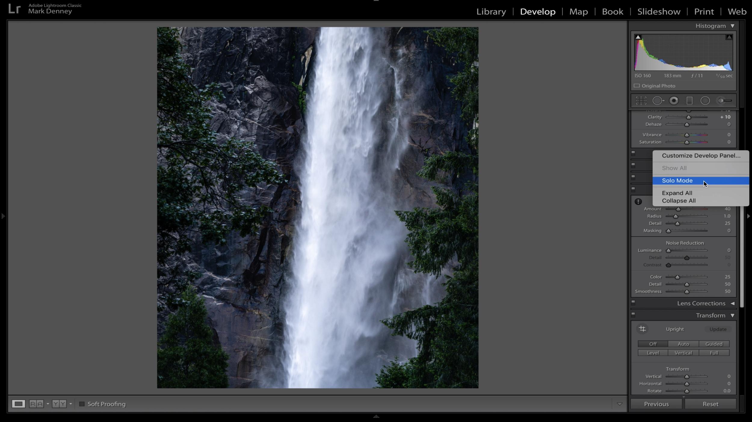 Intimate Bridalveil Falls Yosemite