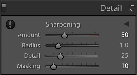 Sharpening in Lightroom