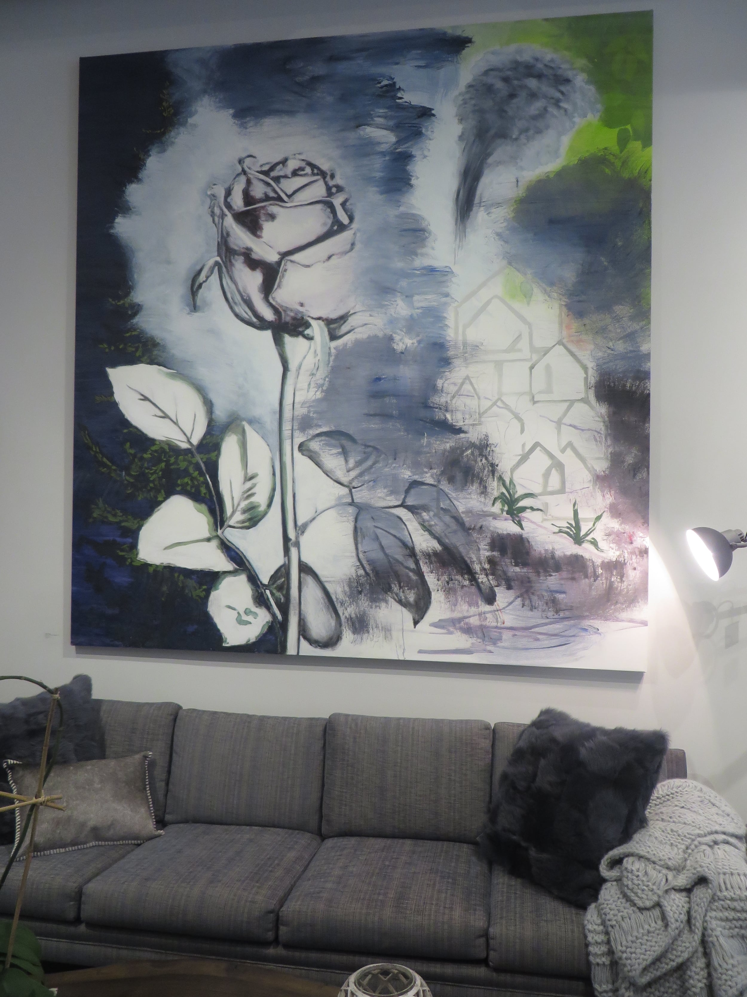 Rose In A Dream, 2011, Installed at Elizabeth Dow Home, 2015