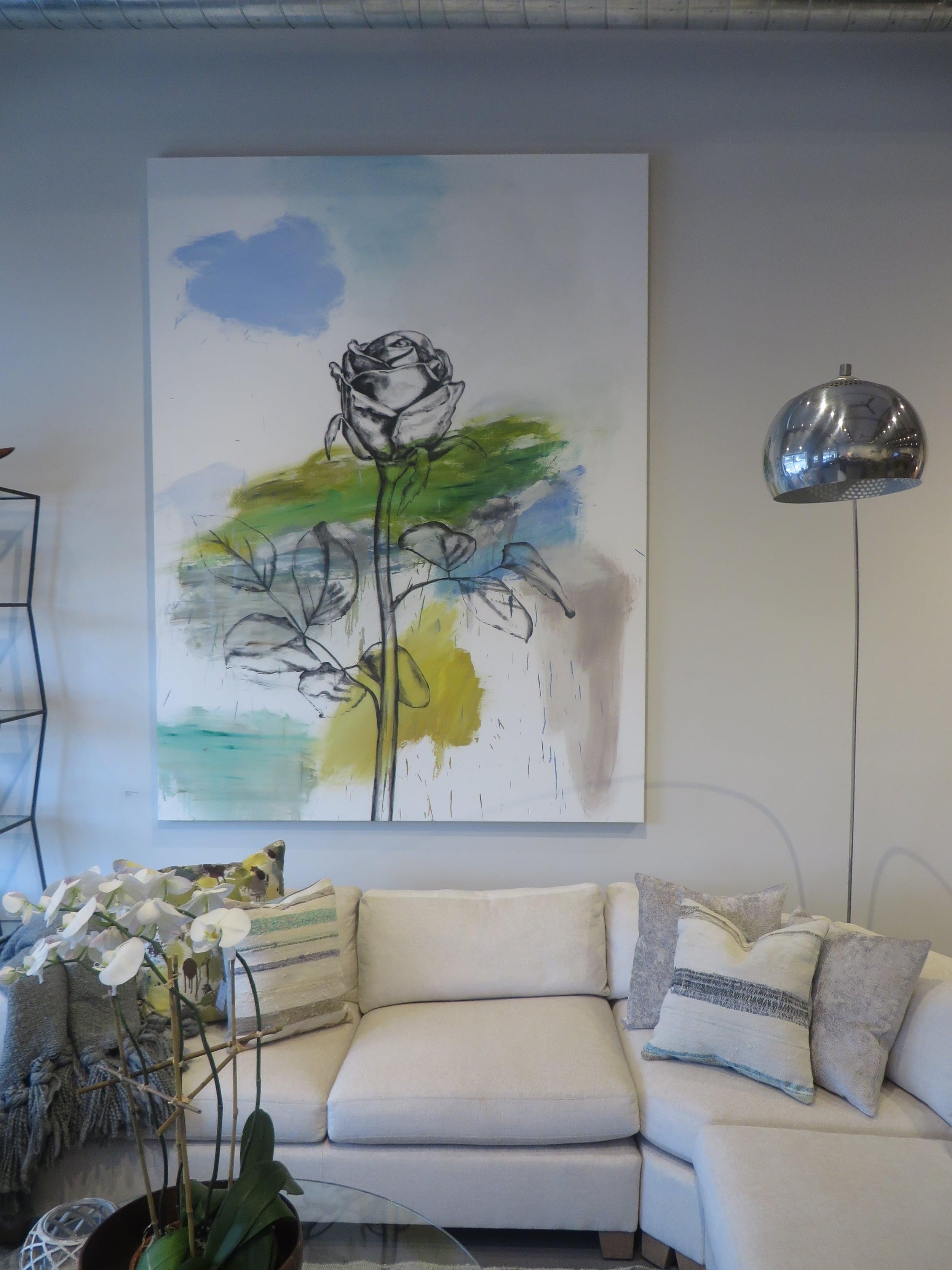 Rose In A Landscape, 2011, Installed at Elizabeth Dow Home, 2015