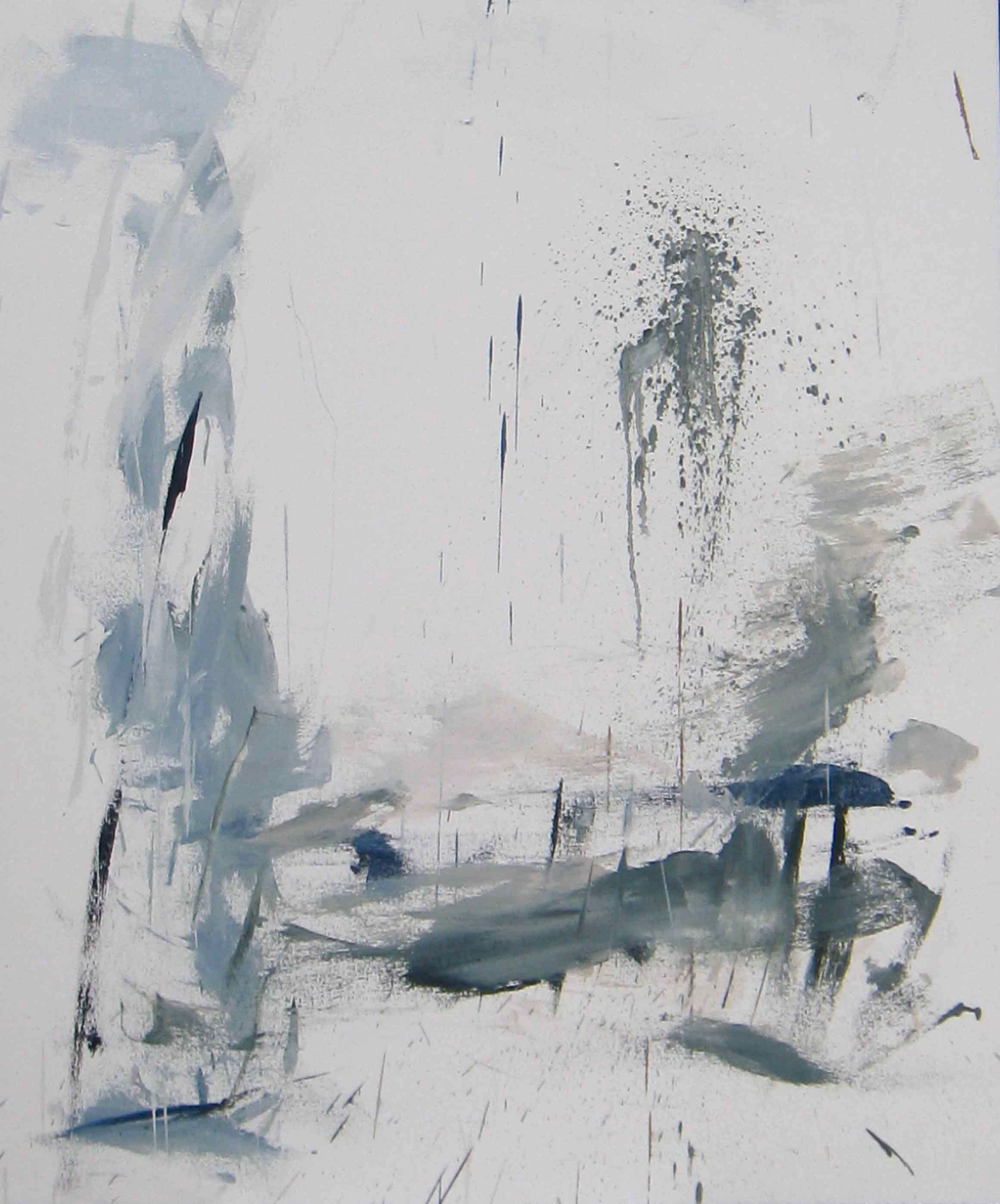 "Cool Landscape, 2009, oil on canvas, 48""x32"""