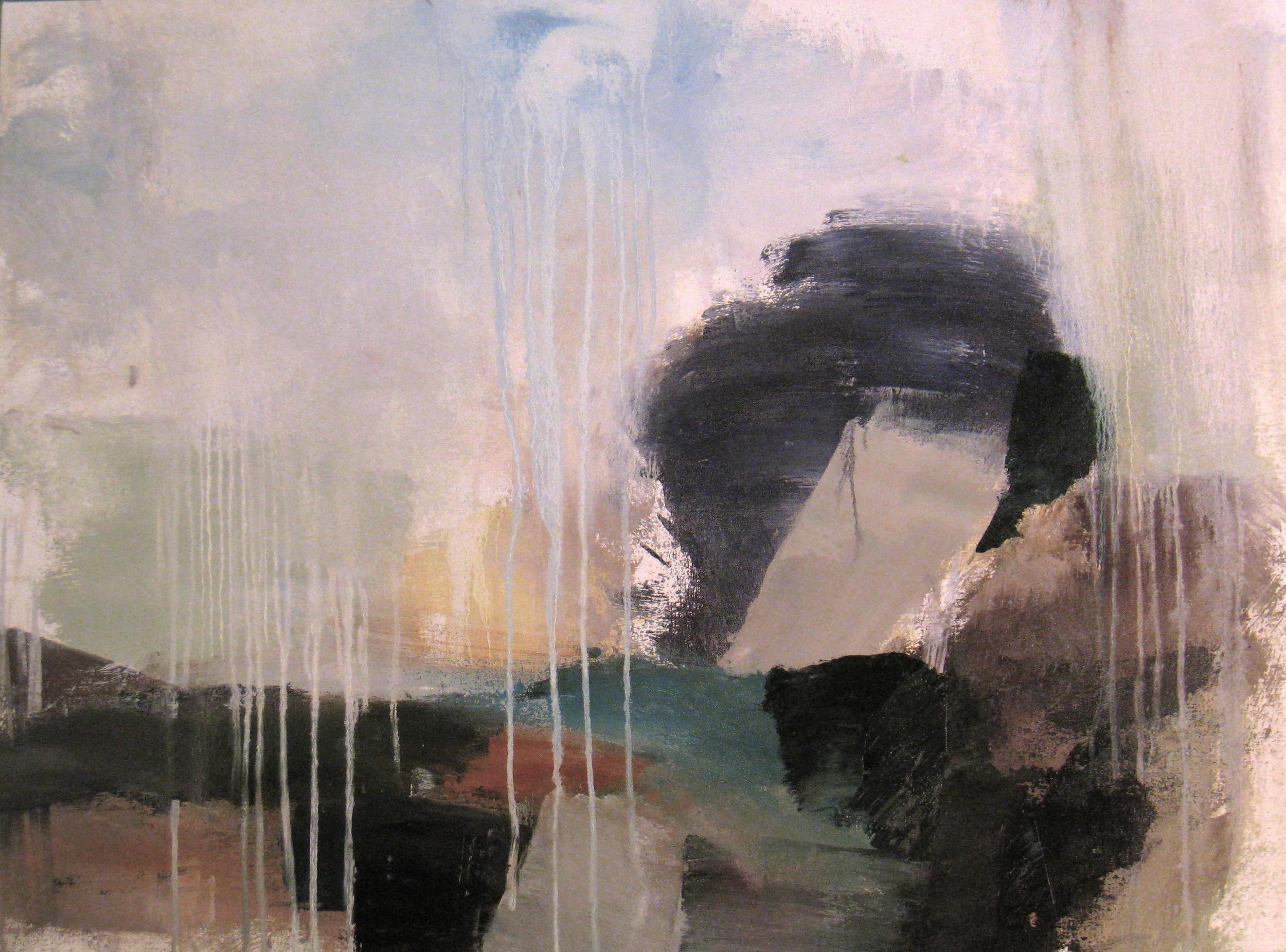 "Jade 1, 2009, oil on canvas, 30""x42"""