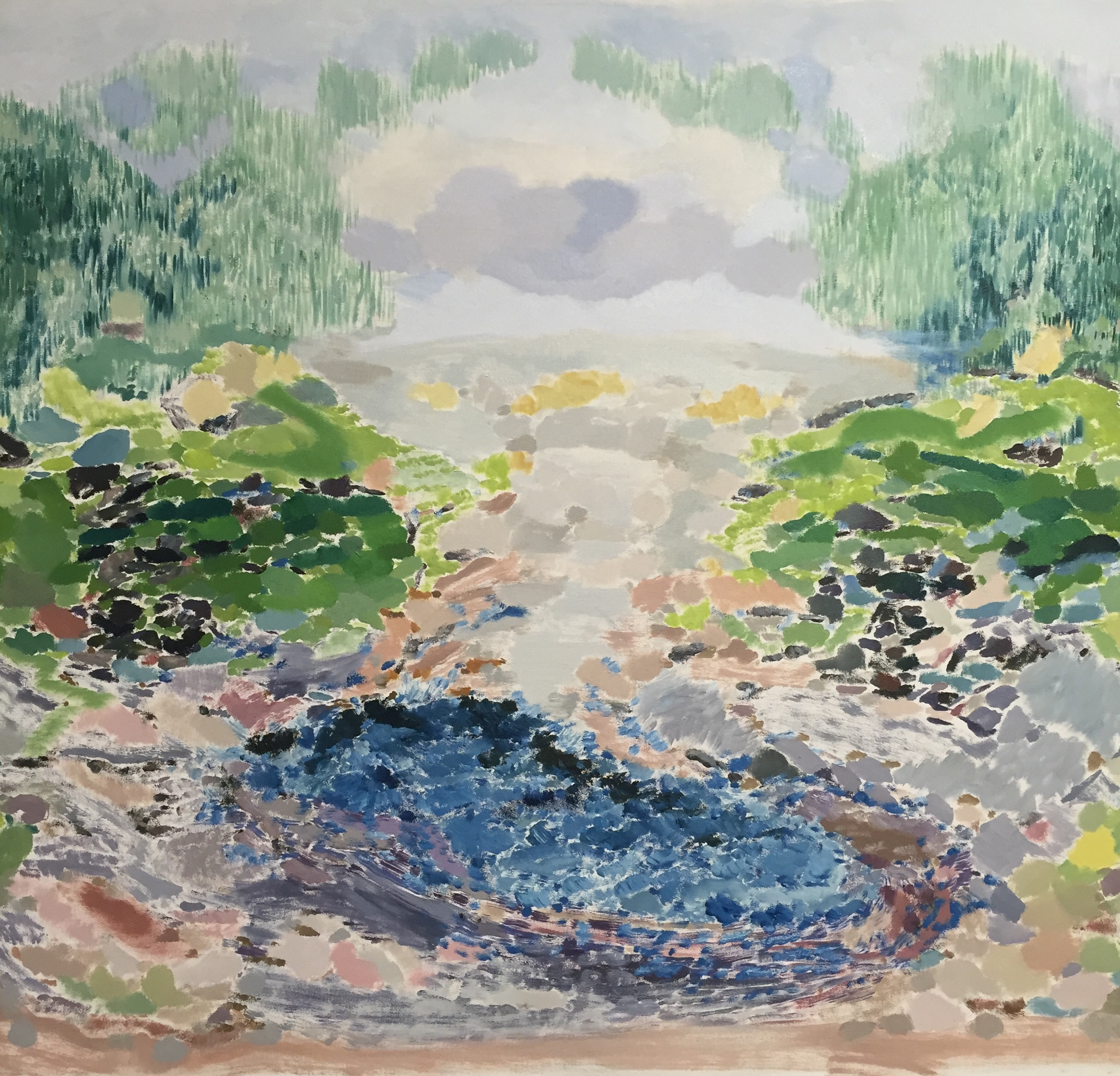 Landscape With Water & Green, 2018
