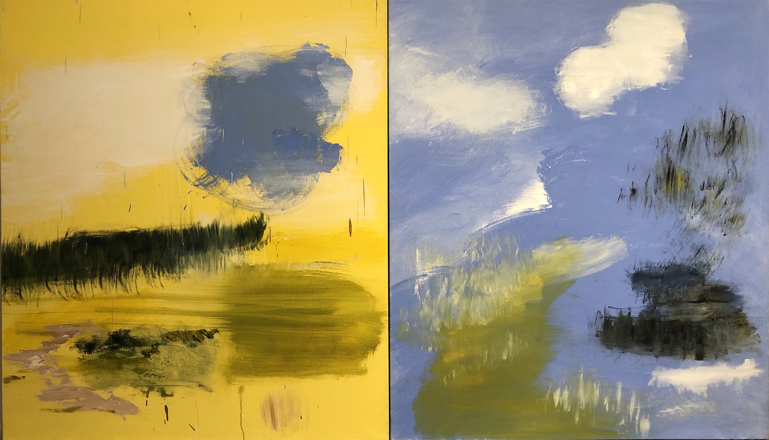 Dyptich, Yellow, Blue, 2012