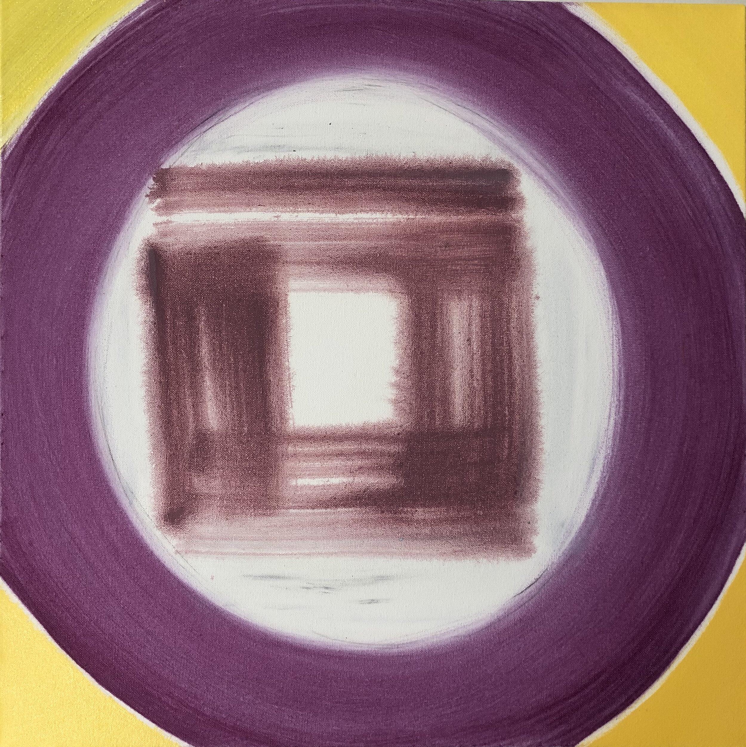 Composition Fuschia Yellow, 2019