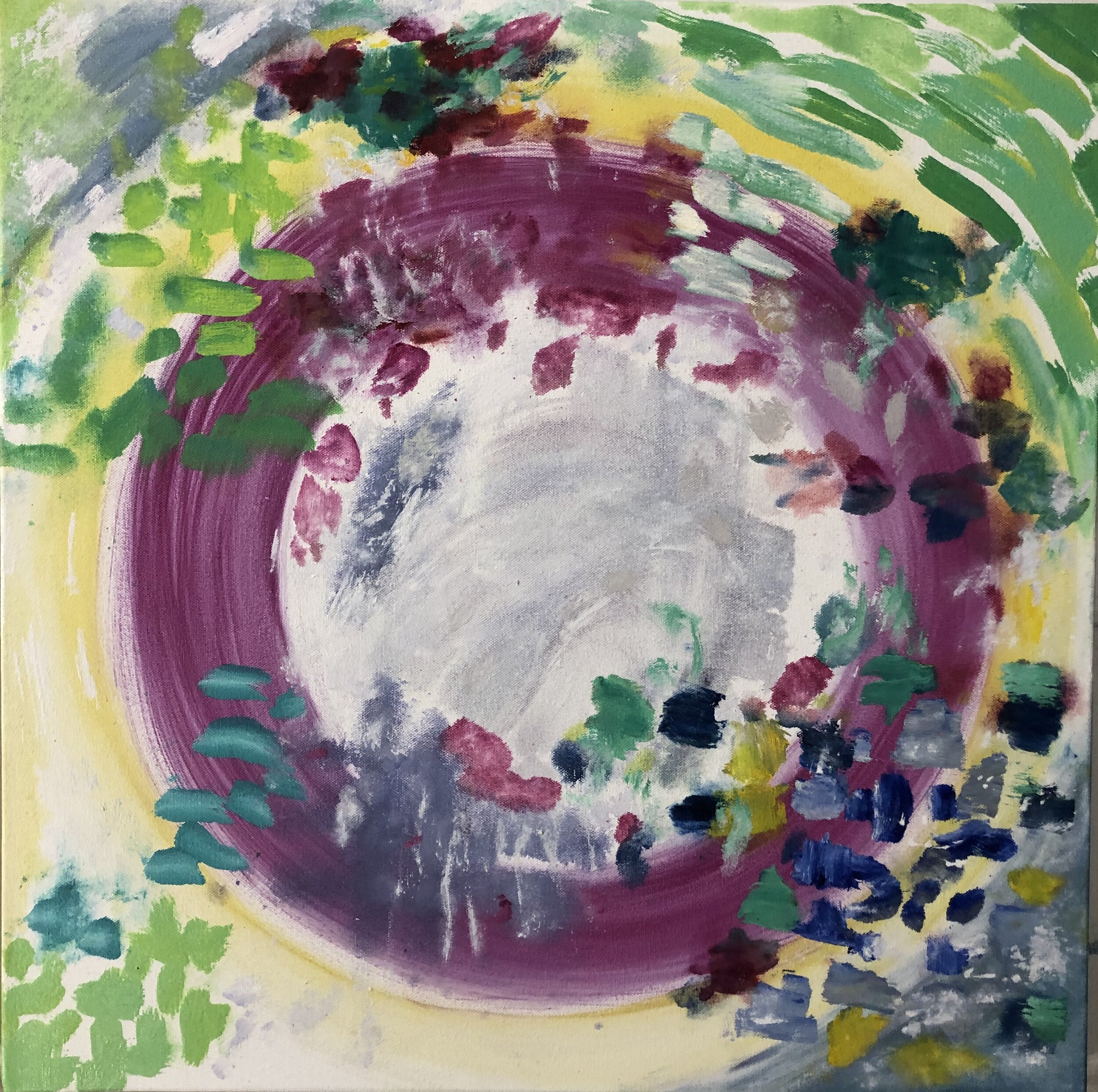 Composition Pink Green, 2019