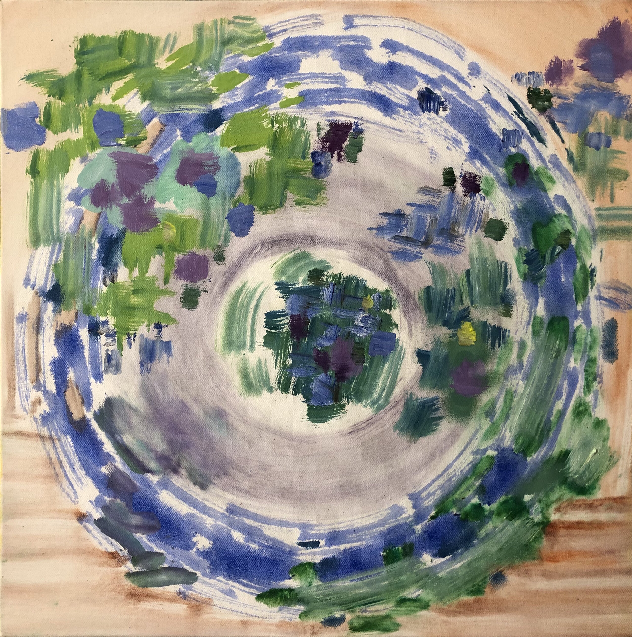 Composition Tan Blue Green, 2019