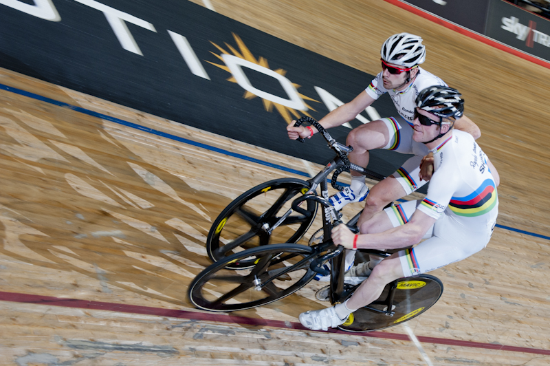 Capt. Andy Tennant changes with 'Admiral' Ed Clancy © Crankphoto