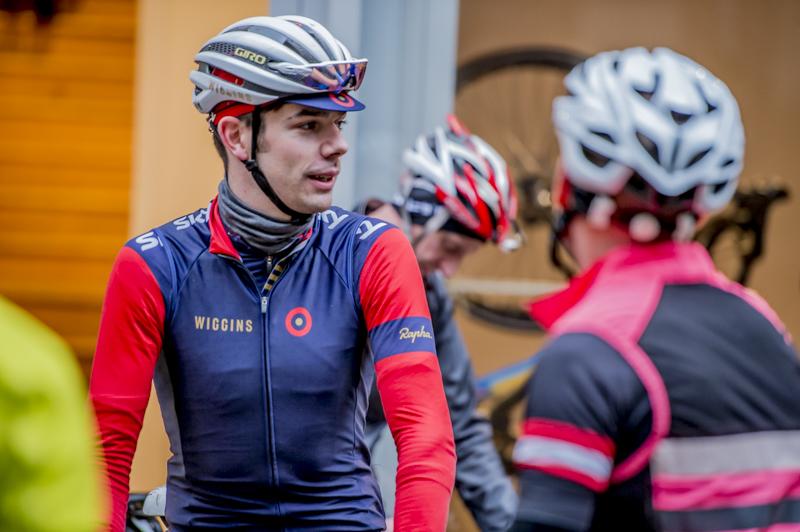 Andy pre ride, working as a Rapha ambassador, December 2015 © Crankphoto
