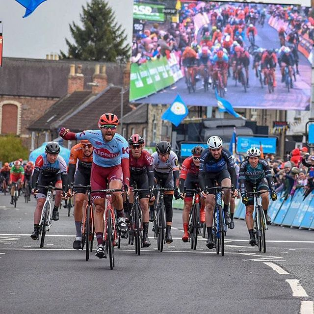 Well its actually nice to say that I'm both pleased and disappointed with 4th today, disappointed as I felt I had a bit more there just not enough time. @letouryorkshire this to date is my best result in a race at this level.  Even Manged to take my glasses of with 3km to go. No mean feat... 📸📸@hughmcmanus8 . . . #Yorkshire #roadracing #TDY19 #cycling #athlete #yorkshiremoors #canyon #bloorhomes #eisberg #lambandwatt #sidi #hunt  #kask #canyondhbbloorhomes
