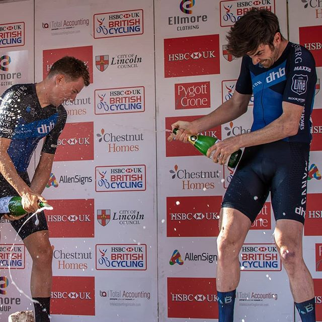 Champagne (more like asti) popping.  Season so far has seen the @canyondhbbloorhomes popping a lot of bottles. Long may it continue. . . . #Winners #race  #poppinbottles #teamwork #cyclingimages #racewin #podium #cycling