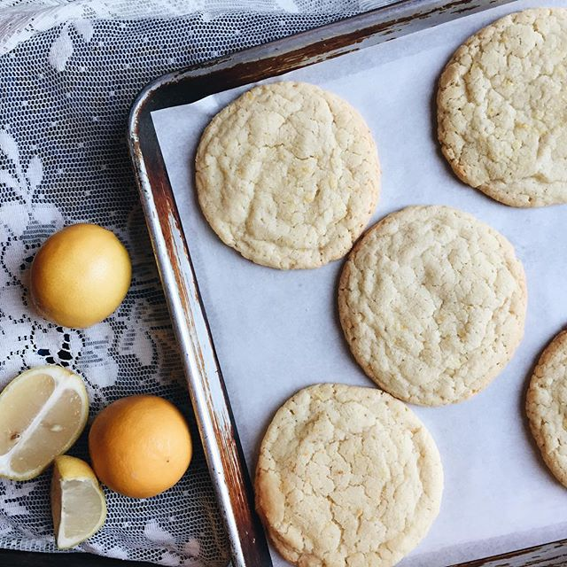 Meyer Lemon cookies compliments of @timemarket lemon trees.