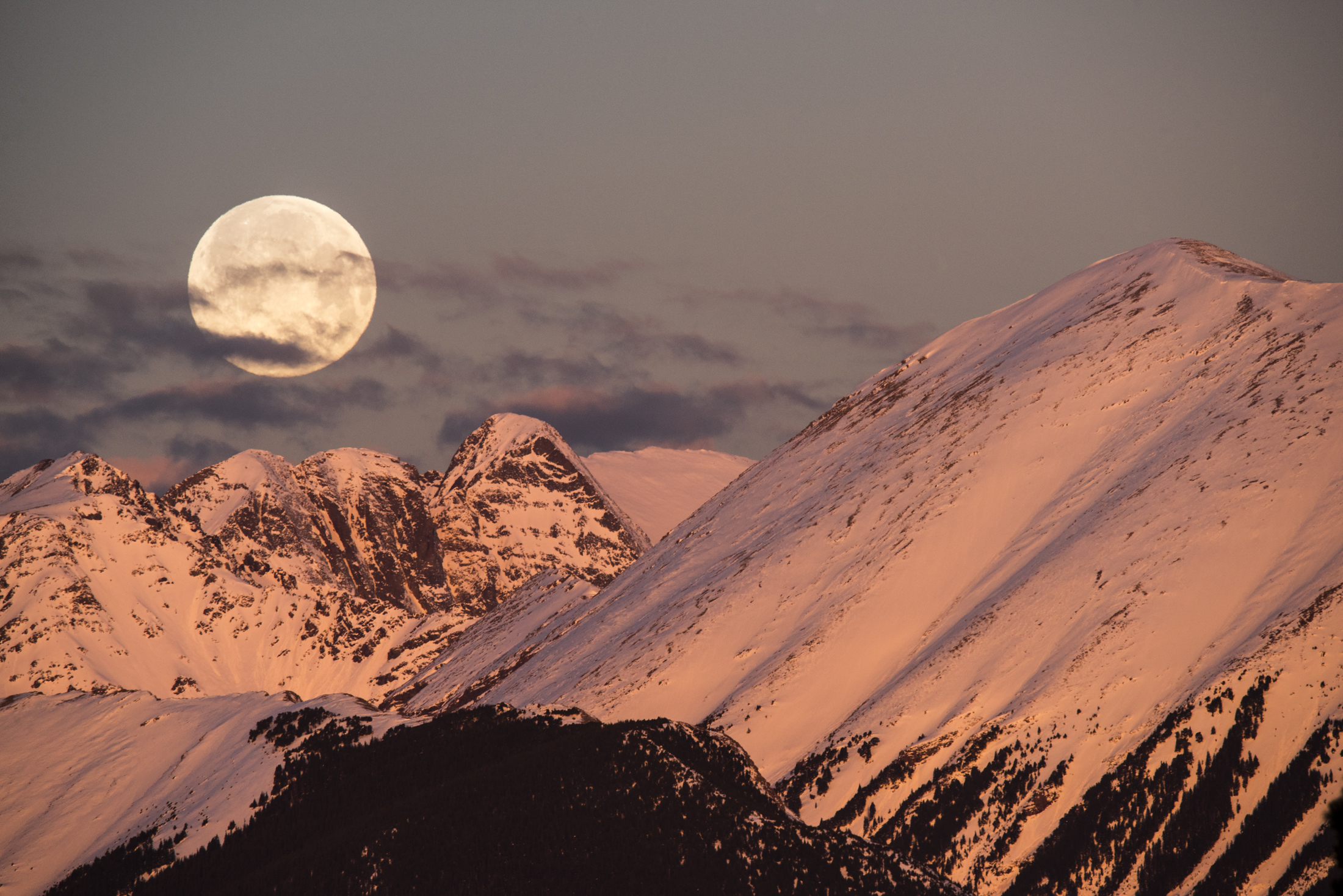 Moon Over Rocky Mountains I