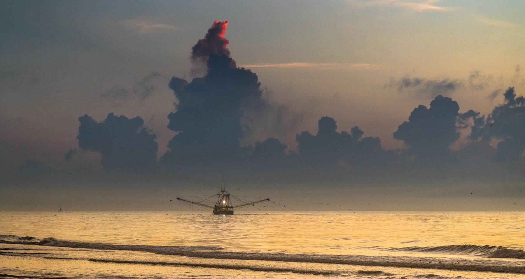 Sunrise Over Gulf in Louisiana II.jpg