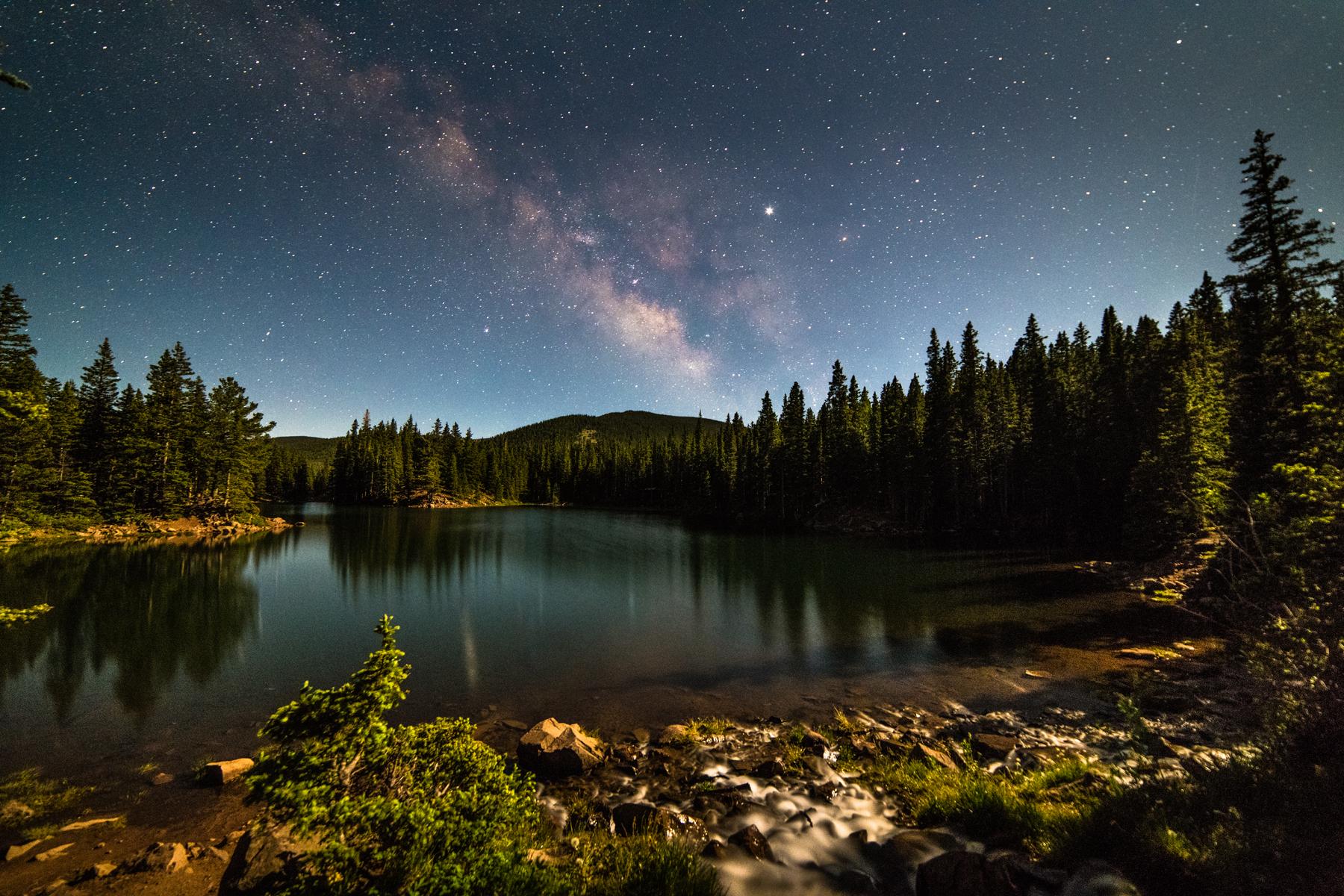 Milky Way Over Bear Lake