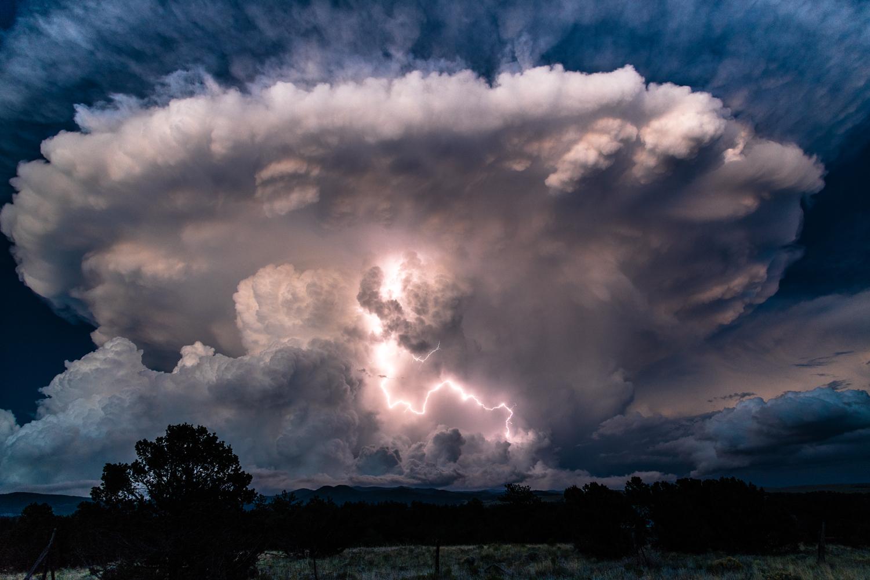 Lightning Storm in Cloud