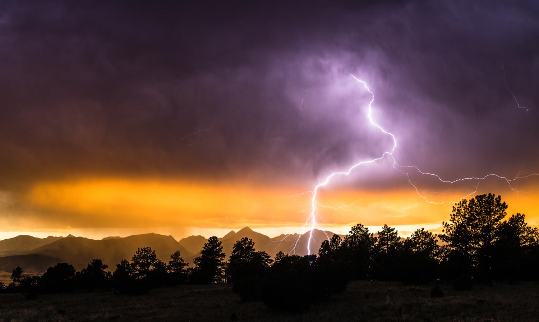 Lightning Over Valley