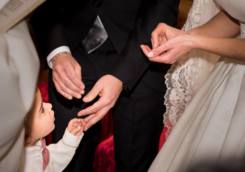 scambio degli anelli con il nipotino