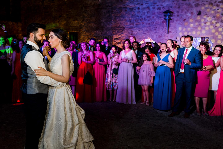 primo ballo degli sposi durante il loro matrimonio