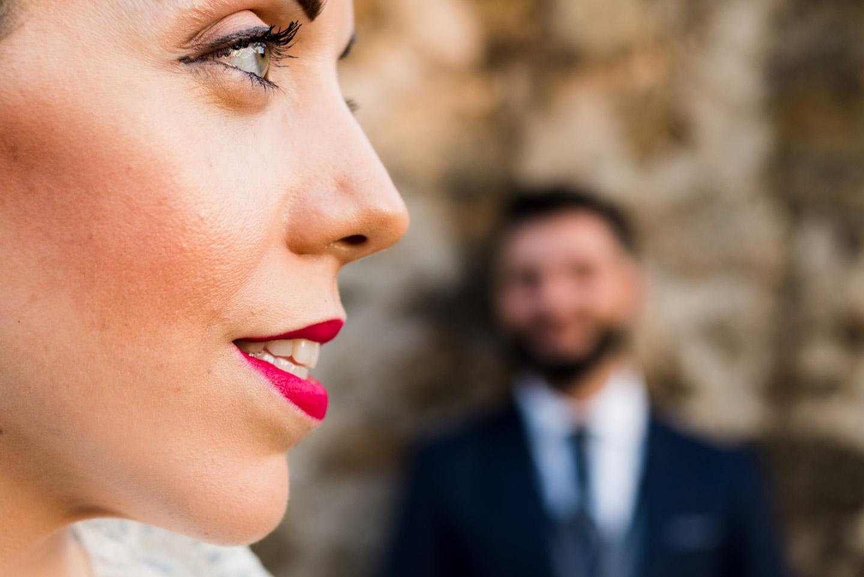 momento della sessione fotografica degli sposi