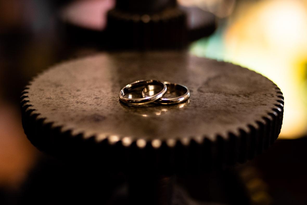 el resultado final de los anillos de boda