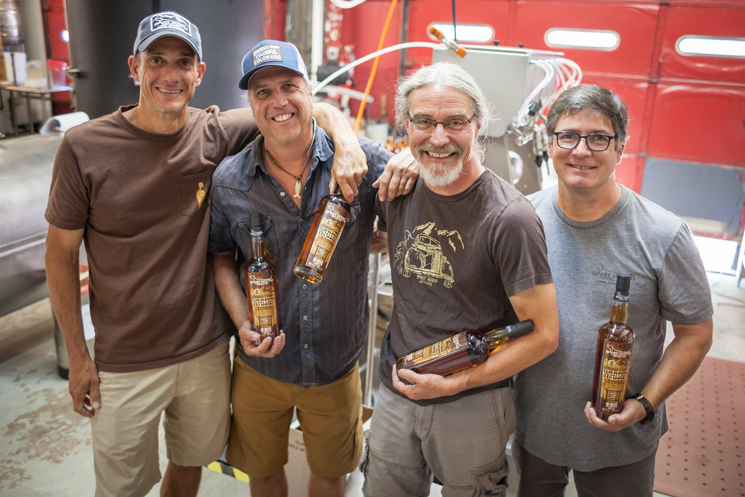 The Spirit Hounds [left to right]: Neil Sullivan, Wayne Anderson, Craig Engelhorn, Rick England. Not pictured: Matt Rooney.