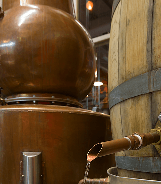 Spirit Hound spirits flow from our own custom-built distilling equipment.