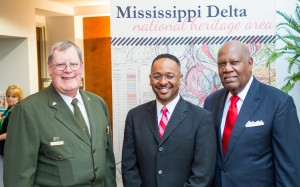 At the MDNHA Opening Reception during Delta State's Winning the Race Conference (left to right): Bill Justice, Herts and Bob Stanton.