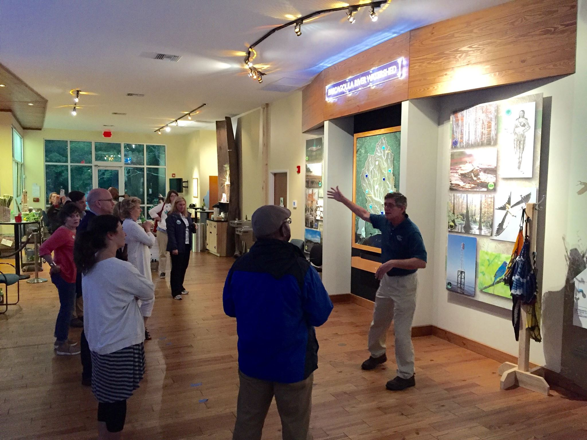 Collaboration Clinic participants learn about bird tourism at the Pascagoula River Audubon Center.