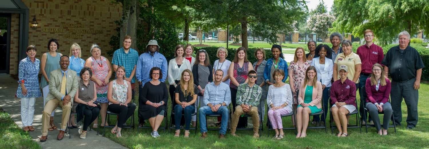 Grant recipients from 2016 and 2017 pose together during a break in the recent MDNHA grantee orientation.