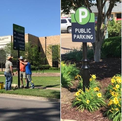 Cleveland Chamber of Commerce: Wayfinding signage system