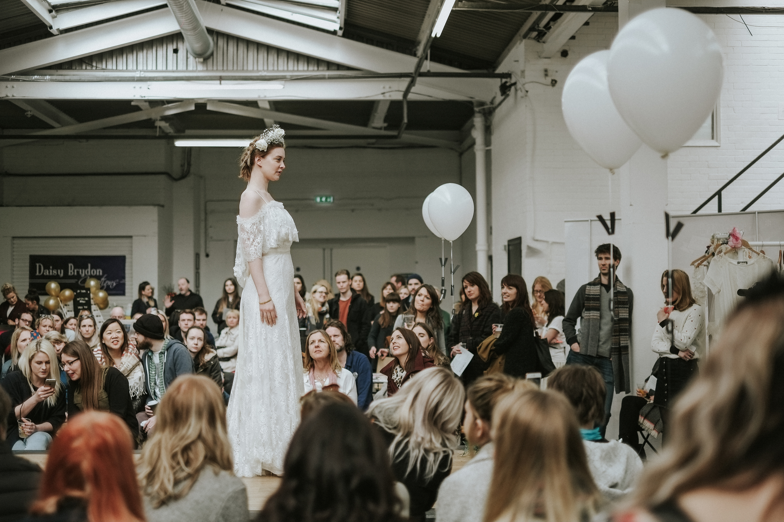 Most Curious fashion shows are rather special.  Models—Natalie Nwagbo, Helen Lloyd.  Stylists— Eimear O'Reilly , Luke Reene.  Bridalwear— SHEHURINA ,  Heavenly Headdress .