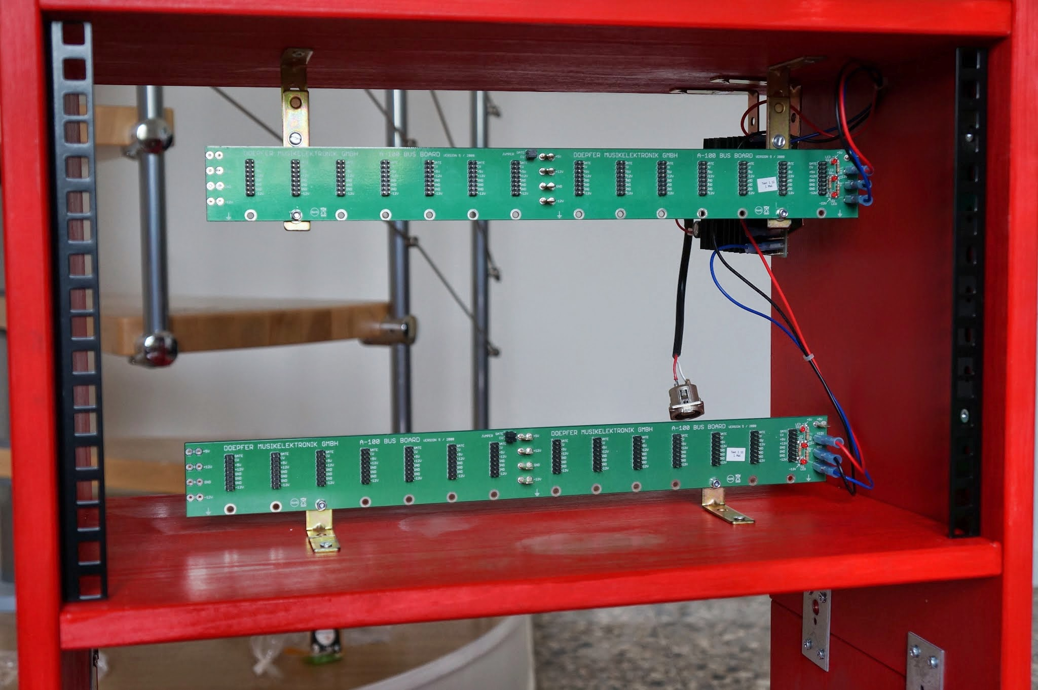 Busboards go in mounted with l-brackets