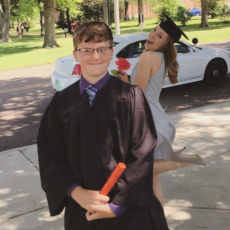 Doesn't my little brother look so smart and handsome?
