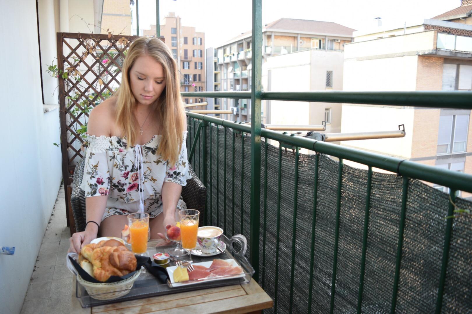 Day 2:  Breakfast Enjoyed on the Balcony