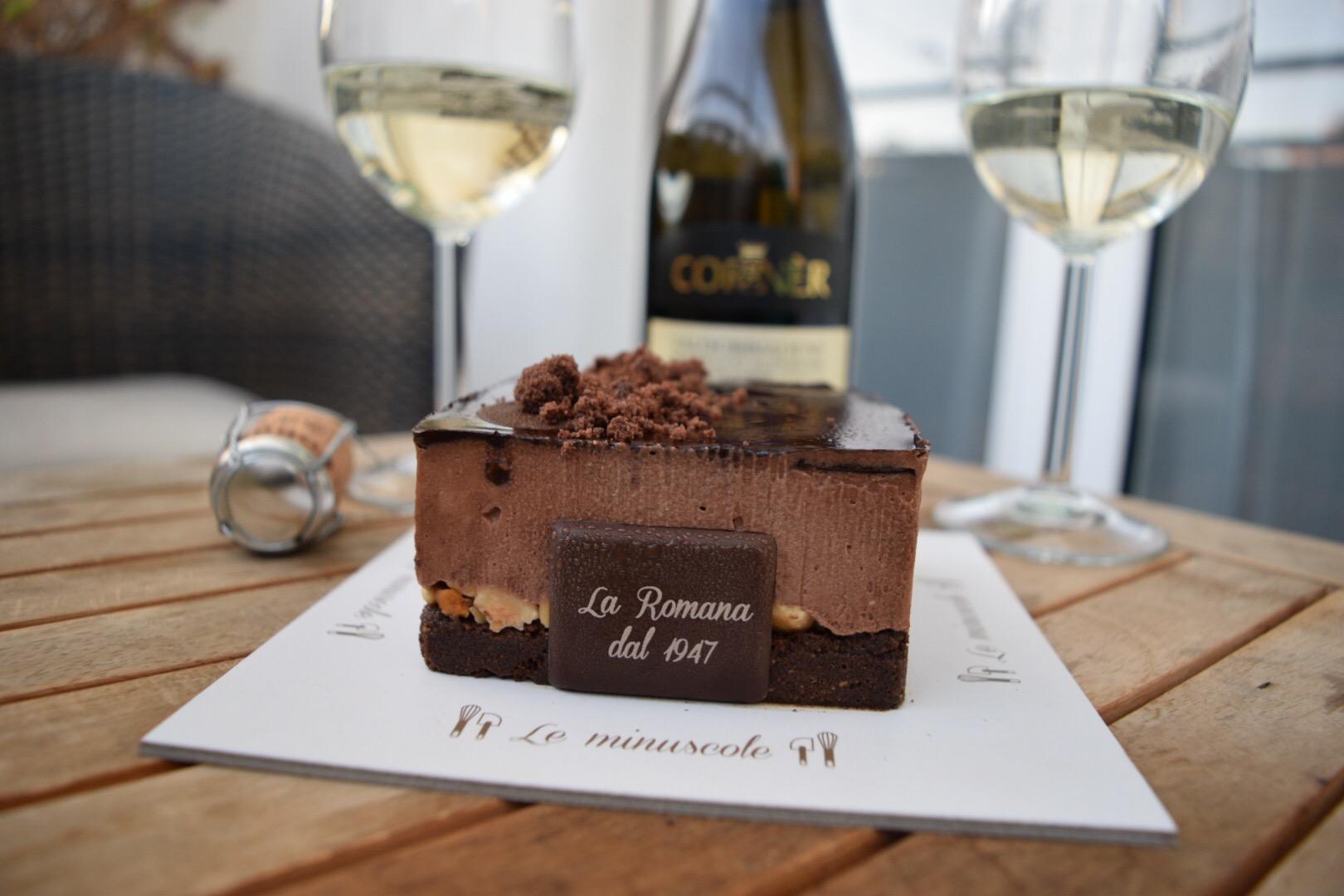 Day 3:  Celebratory Champagne & Gelato Cake