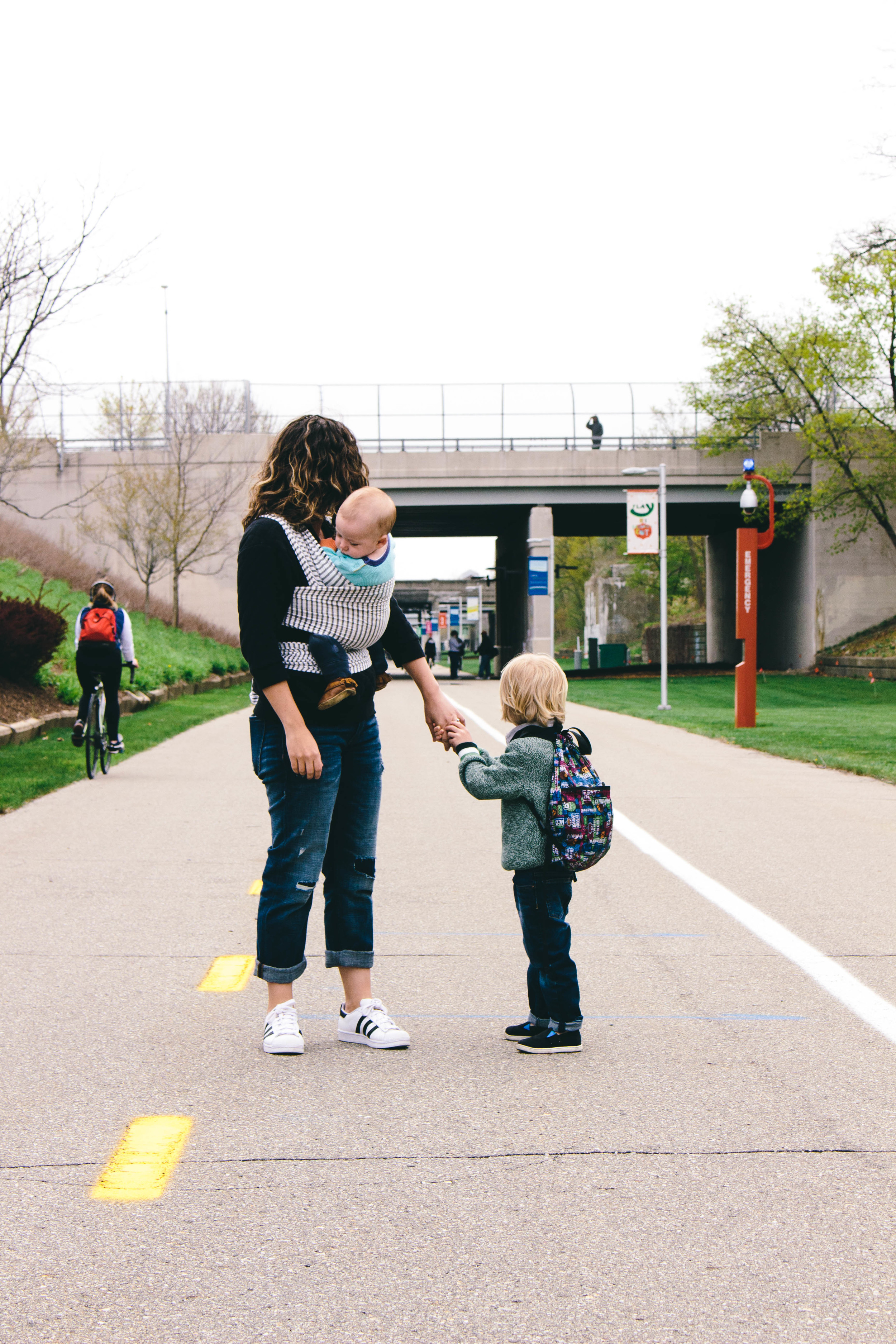 baby wearing with a toddler, wraps, sling and carrier