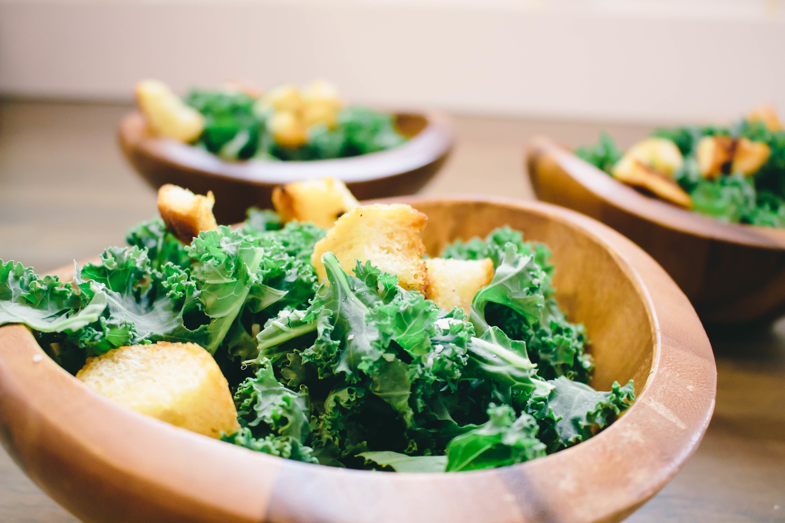 Kale caesar salad, dressed up caesar salad, how to use kale, kale, easy salad recipe, parmesan cheese, garlic cloves, italian bread,