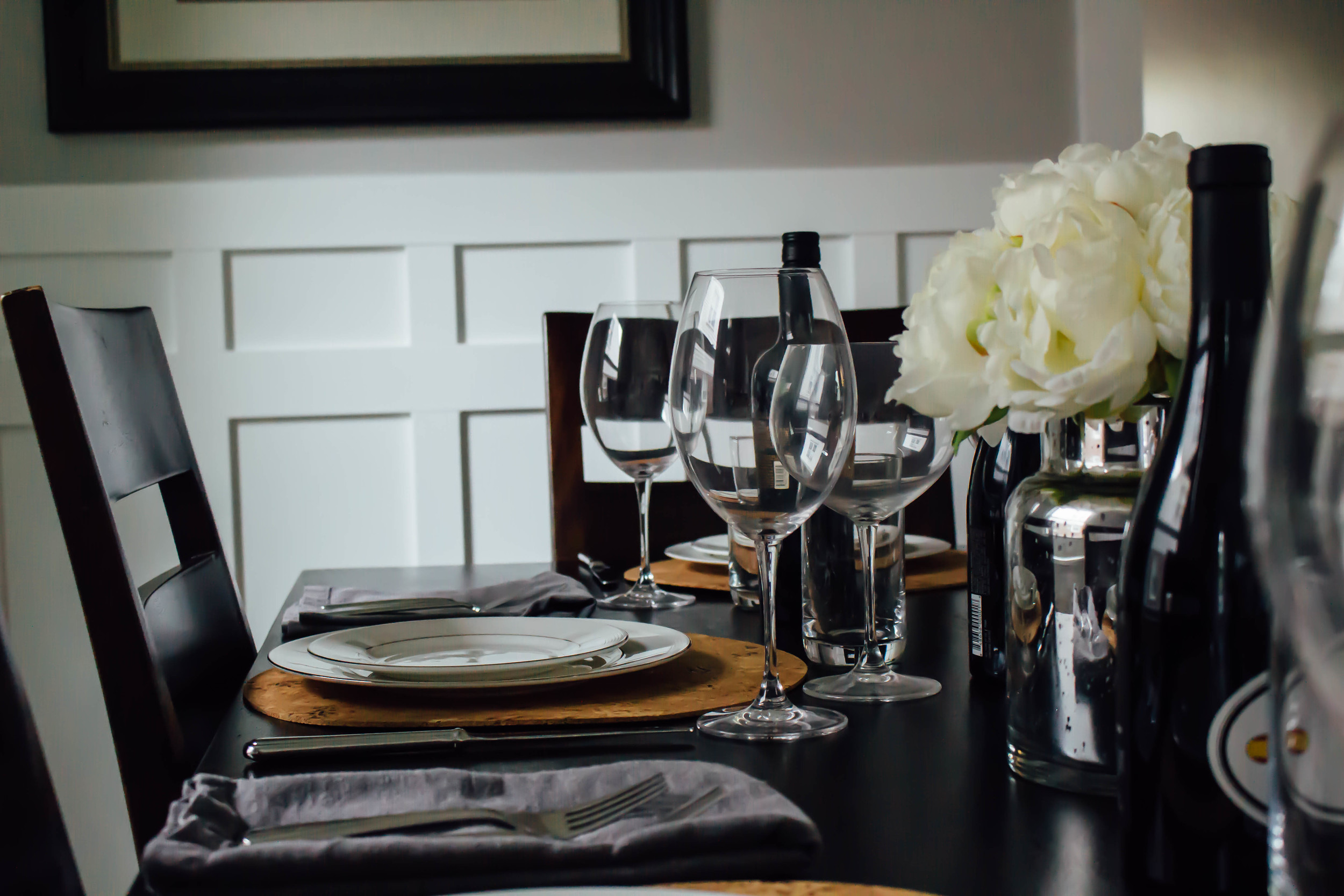 home, dining room, home makeover, dining room makeover, crate & barrel, pottery barn, how to makeover your dining room, DIY, custom board and batten in dining room, home renovation,