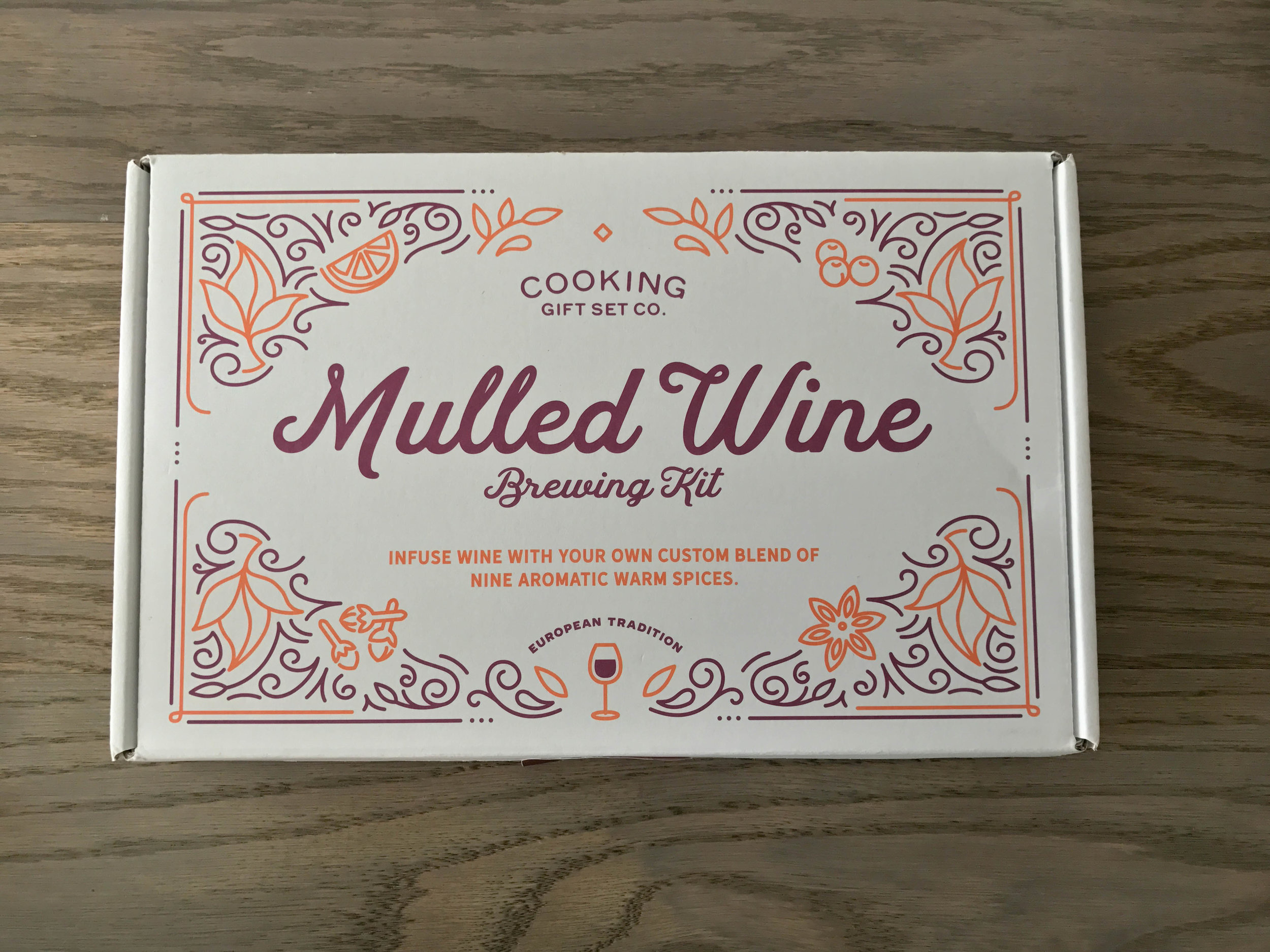 recipe for at home mulled wine, cooking gift set co., mulled wine brewing kit, wine, birthday treats,