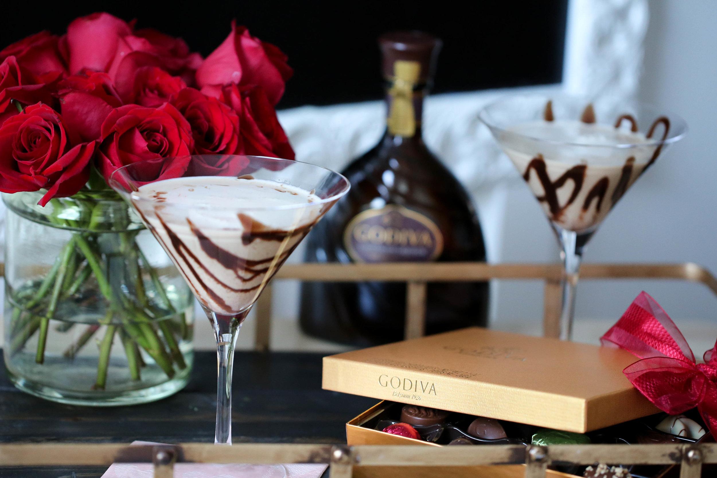 godiva, chocolates, martinis, chocolate martinis