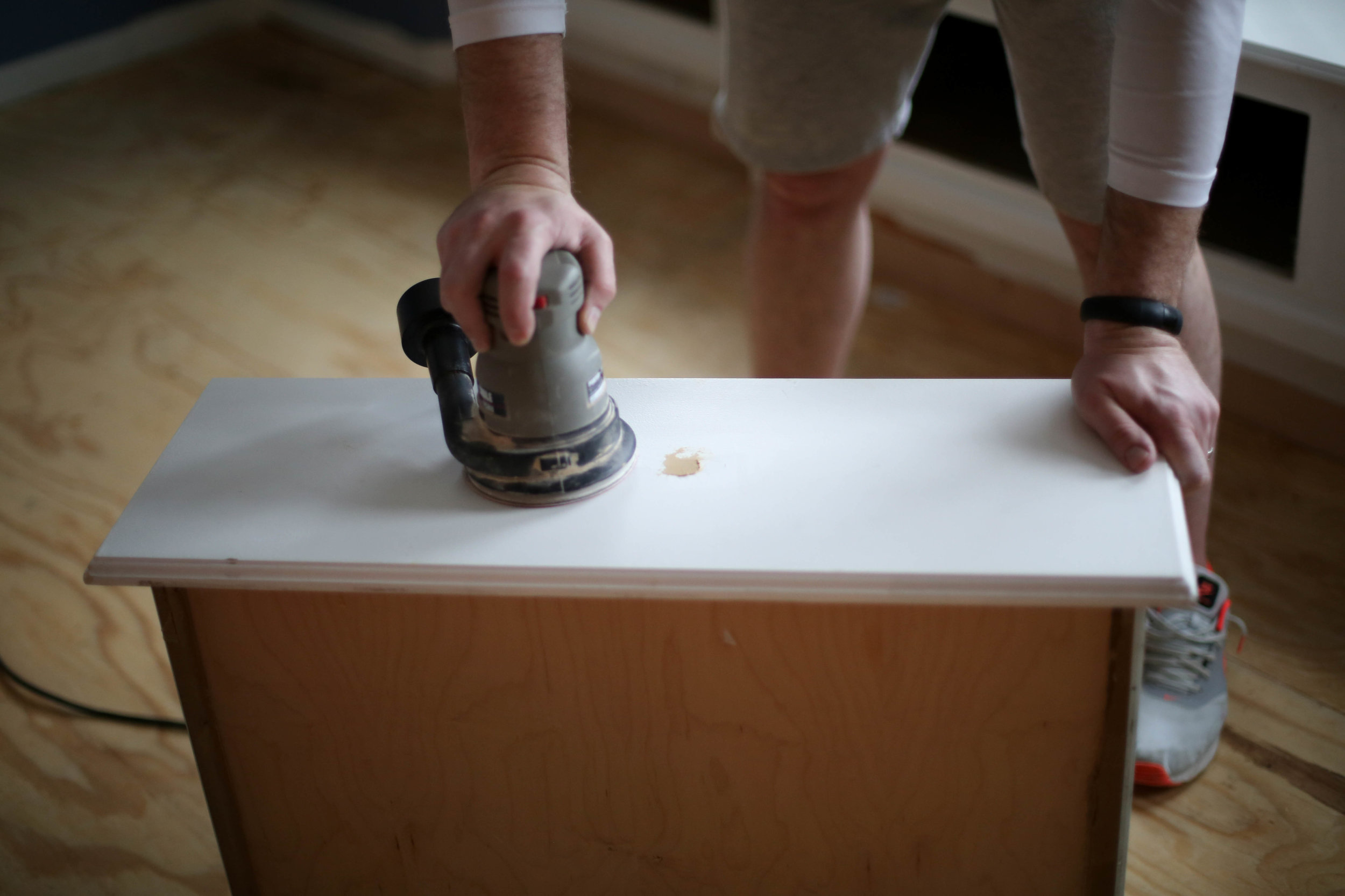 how to sand drawers
