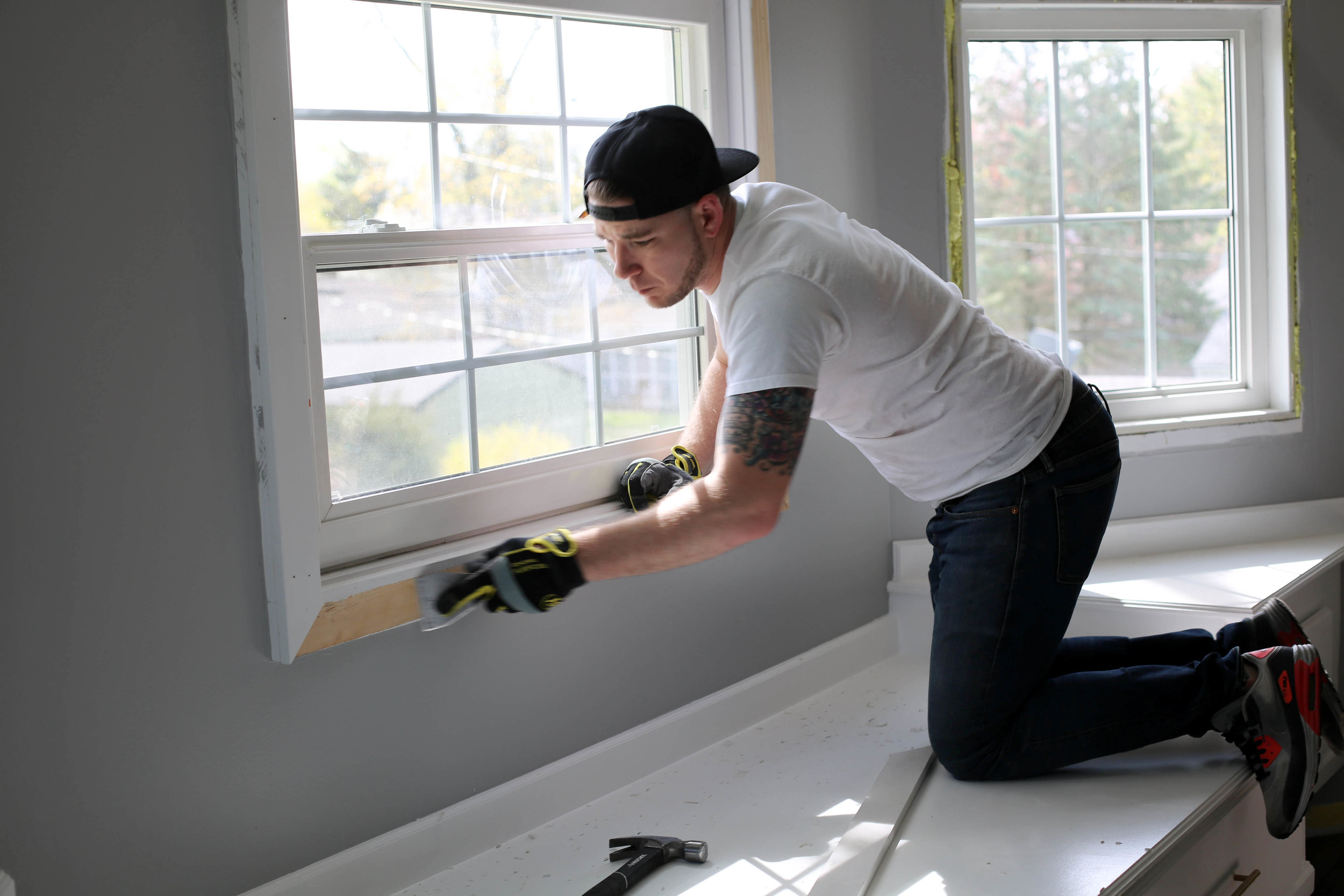 remodeling, how to do window casing