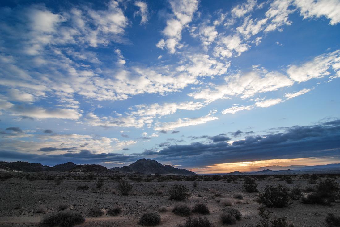 Wonder Valley sunrise. January 10th 2016