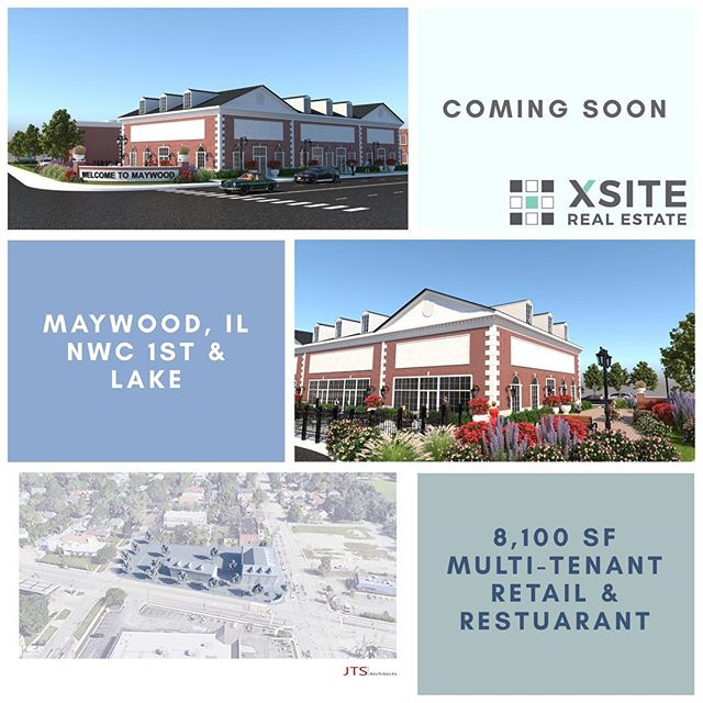 Coming soon. NWC of 1st and Lake in Maywood, IL. Contact for leasing information and details.
