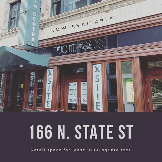 New Listing: 166 N. State. Prime location across from the Chicago Theatre and Walgreens. Contact Trevor Paul: 630.432.1879