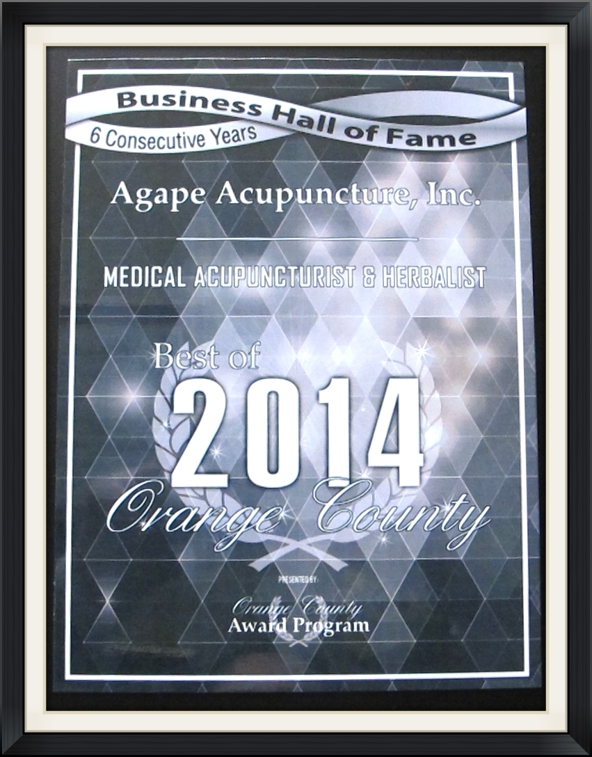 Best of Orange County Award - Agape Acupuncture